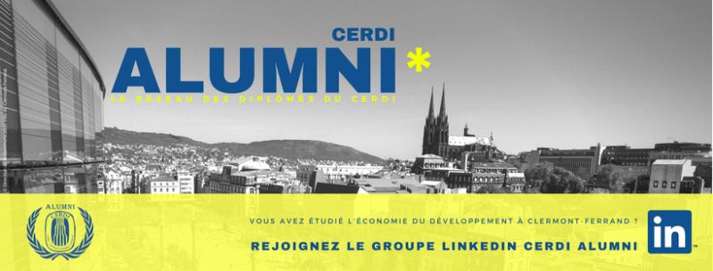 CERDI Alumni LinkedIn Facebook